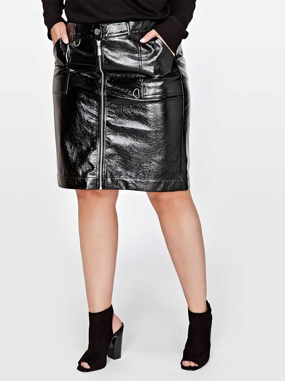 L&L skirt in faux leather