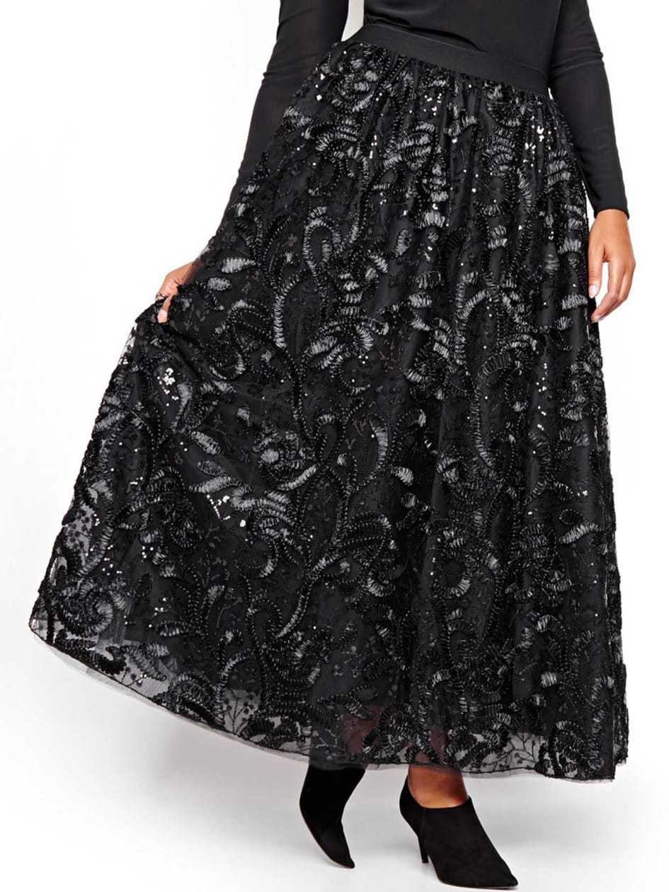 Michel Studio Long Tulle Skirt