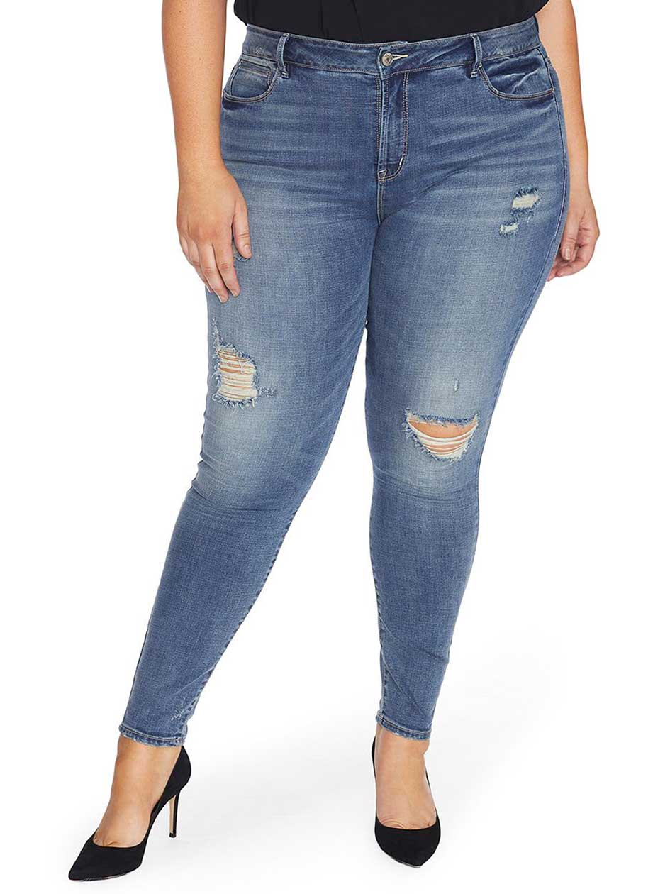 Rebel Wilson The Pin Up Super Skinny Distressed Jean