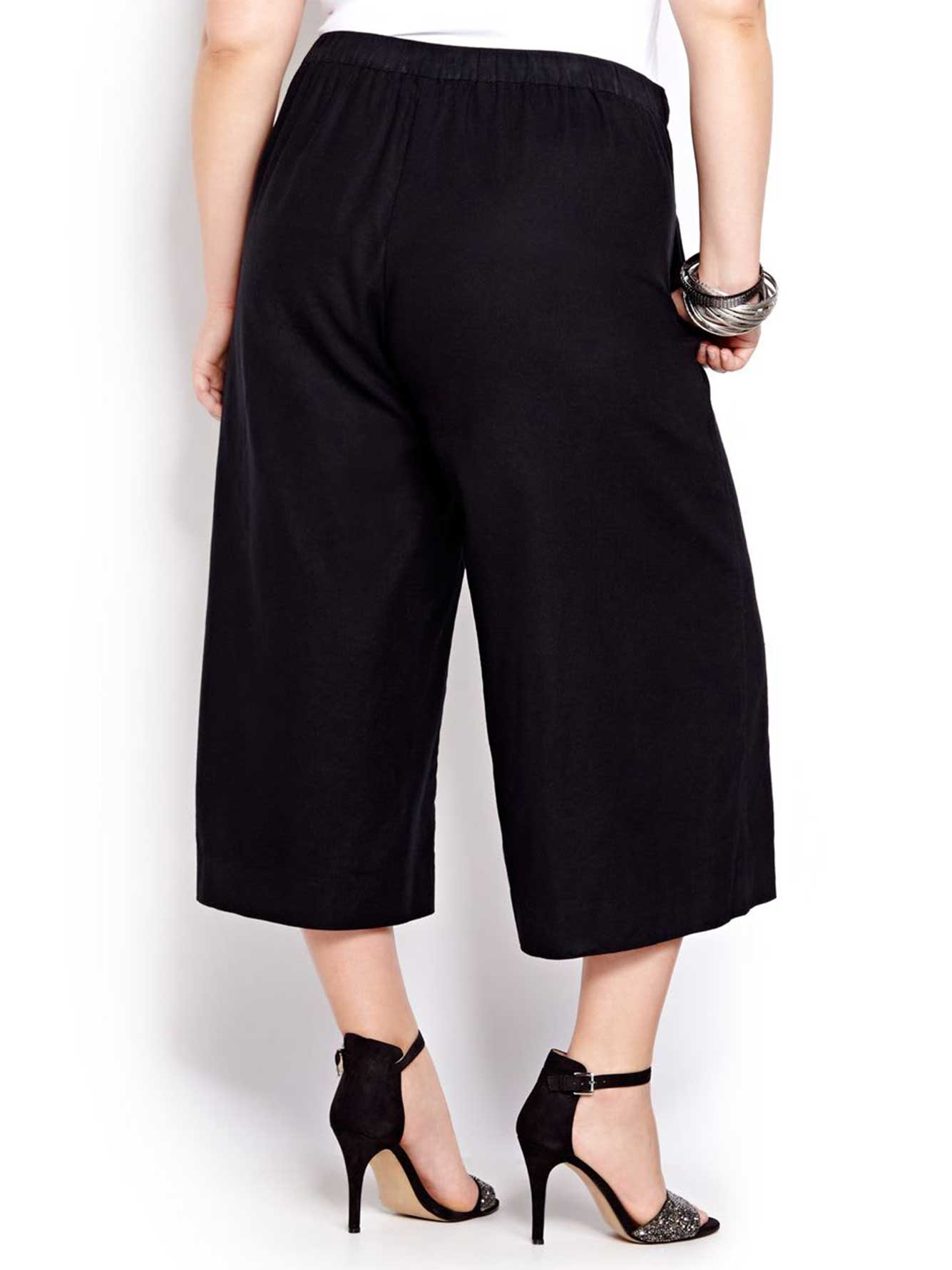 Linen Pull On Gaucho Pants | Addition Elle