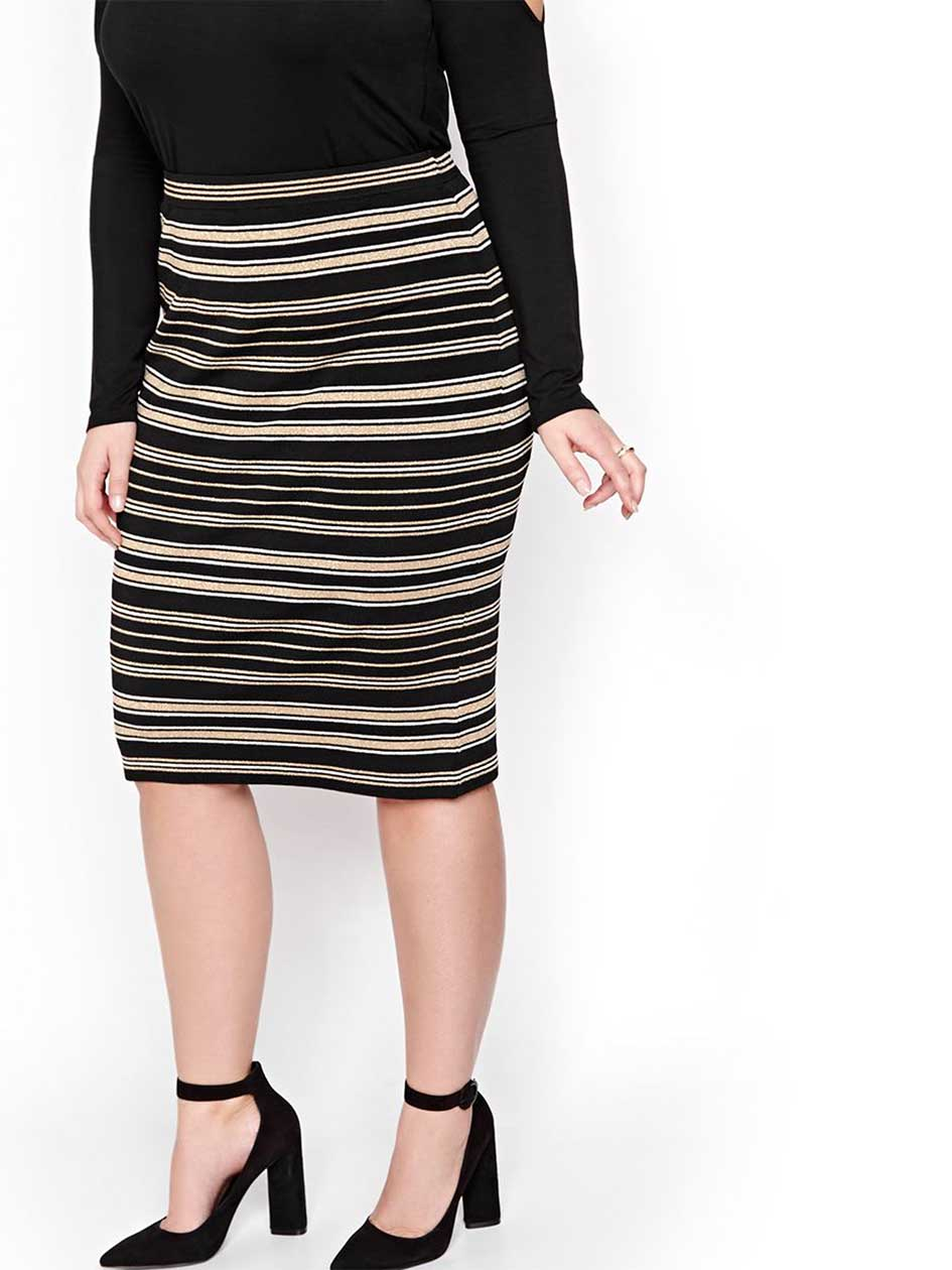 Rachel Roy Draped Striped Skirt