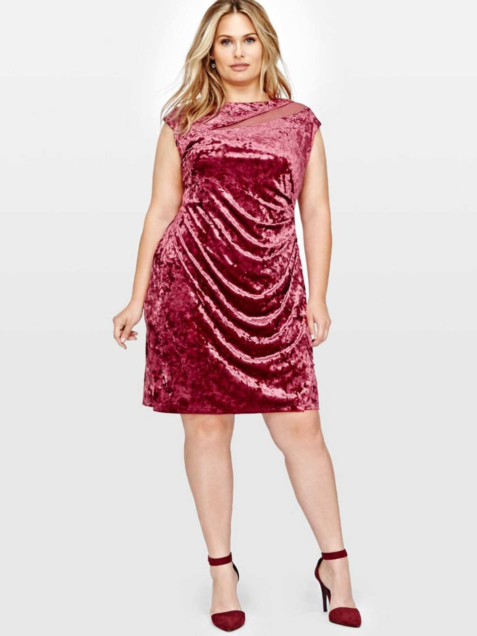Michel Studio Sleeveless Velvet Dress