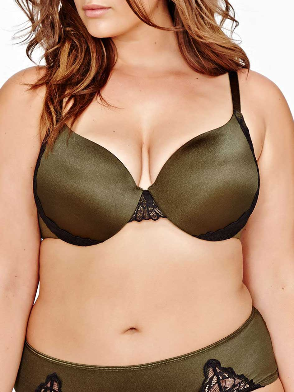 Shiny Flawless T-Ser Bra with Lace Exteriors - Déesse Collection