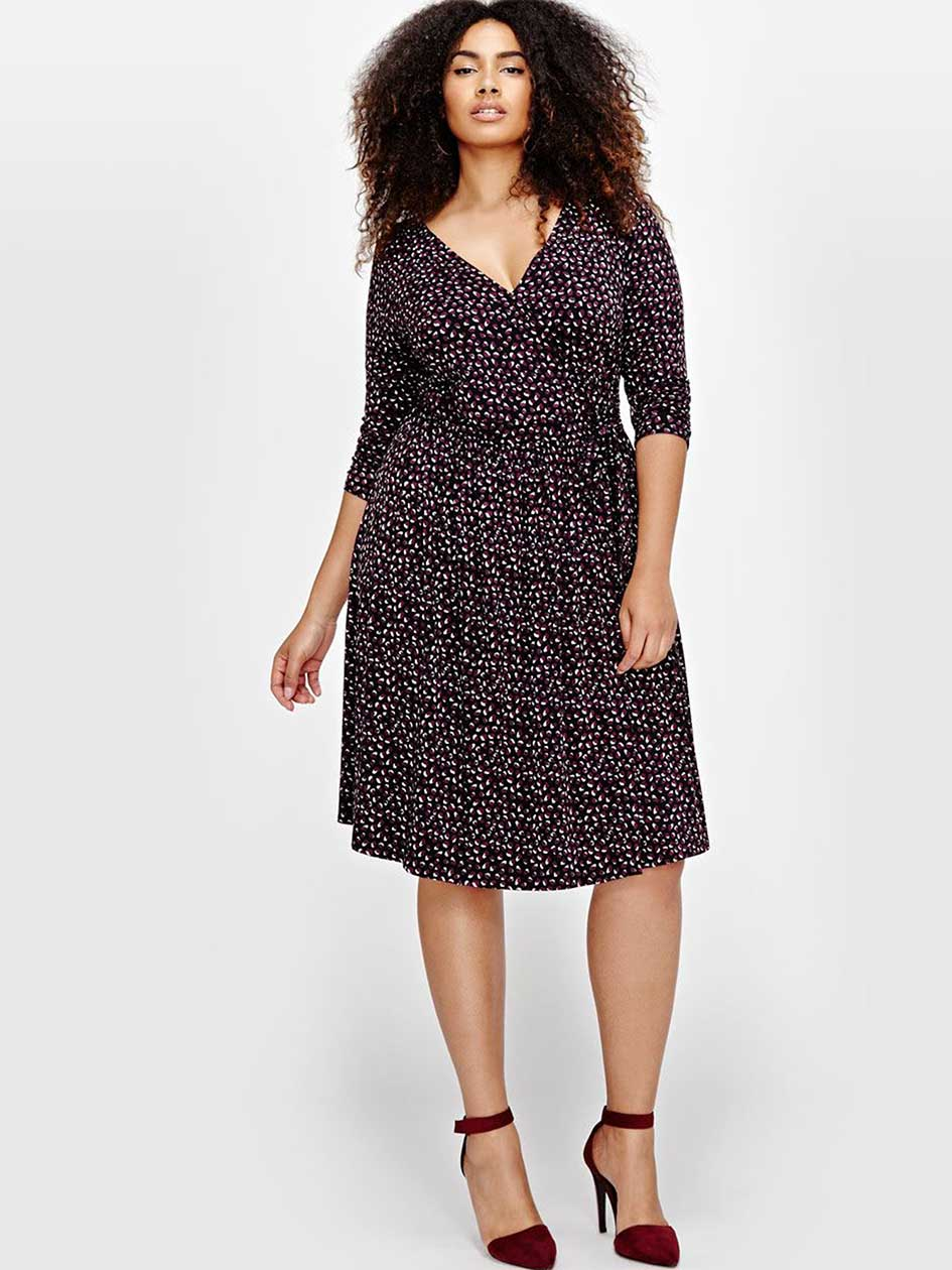 Michel Studio Wrap Dress with prints