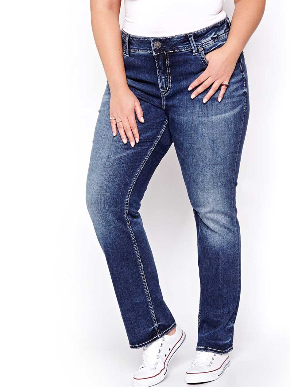 Silver Elyse Slim Boot Cut Jeans