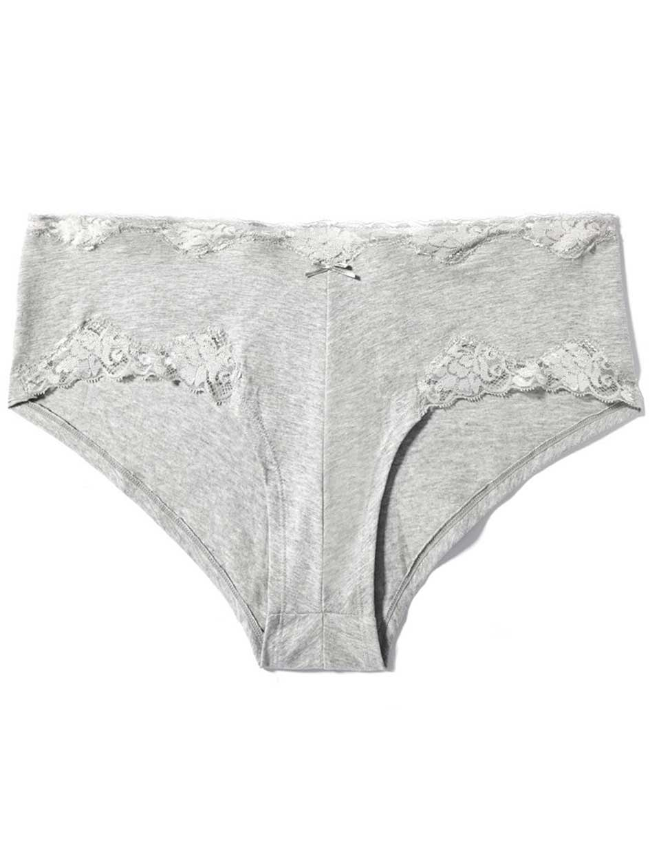 Lace Insert Boyshort Panty - Déesse Collection
