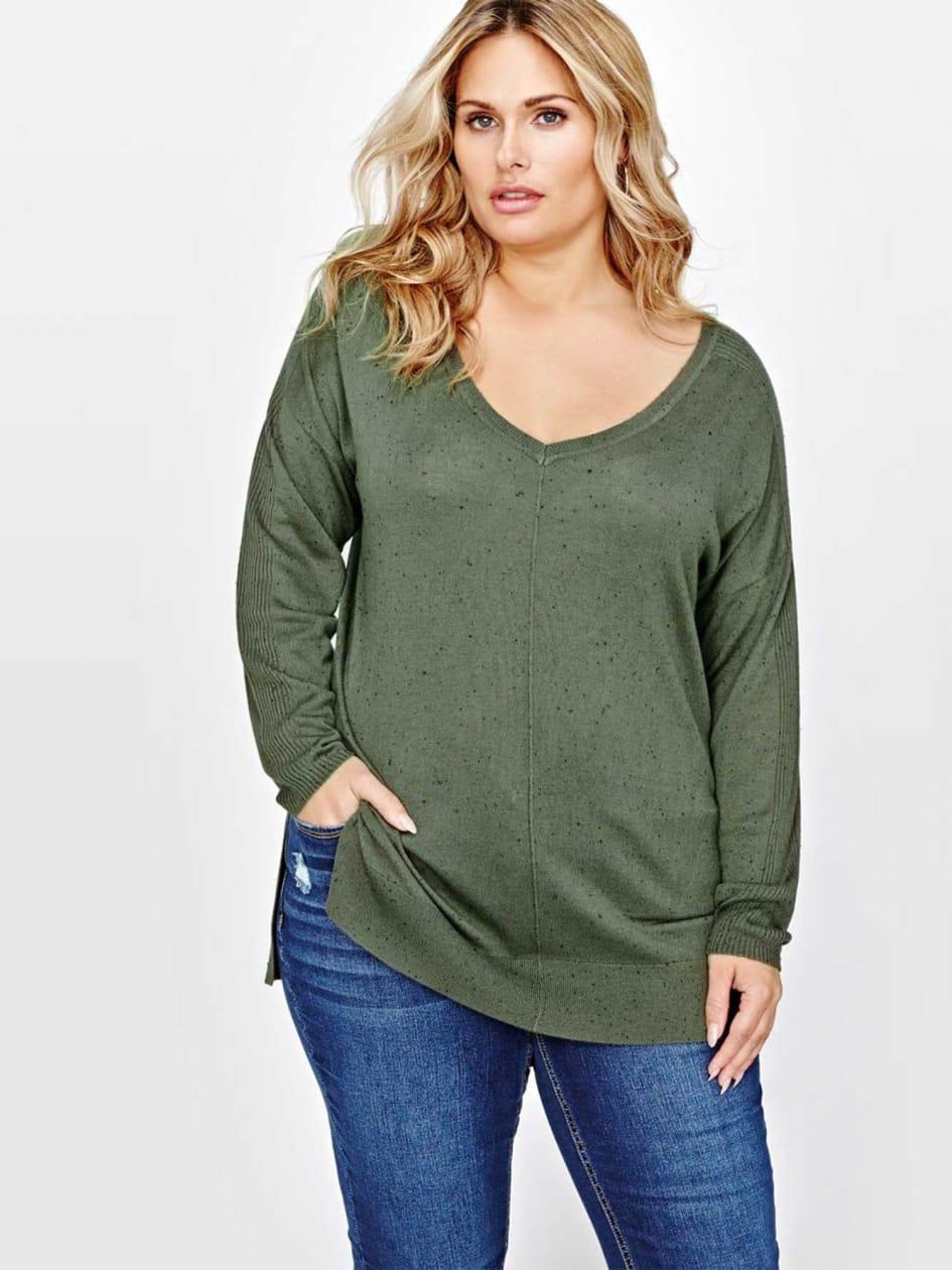 L&L V-Neck Hi-Low Sweater