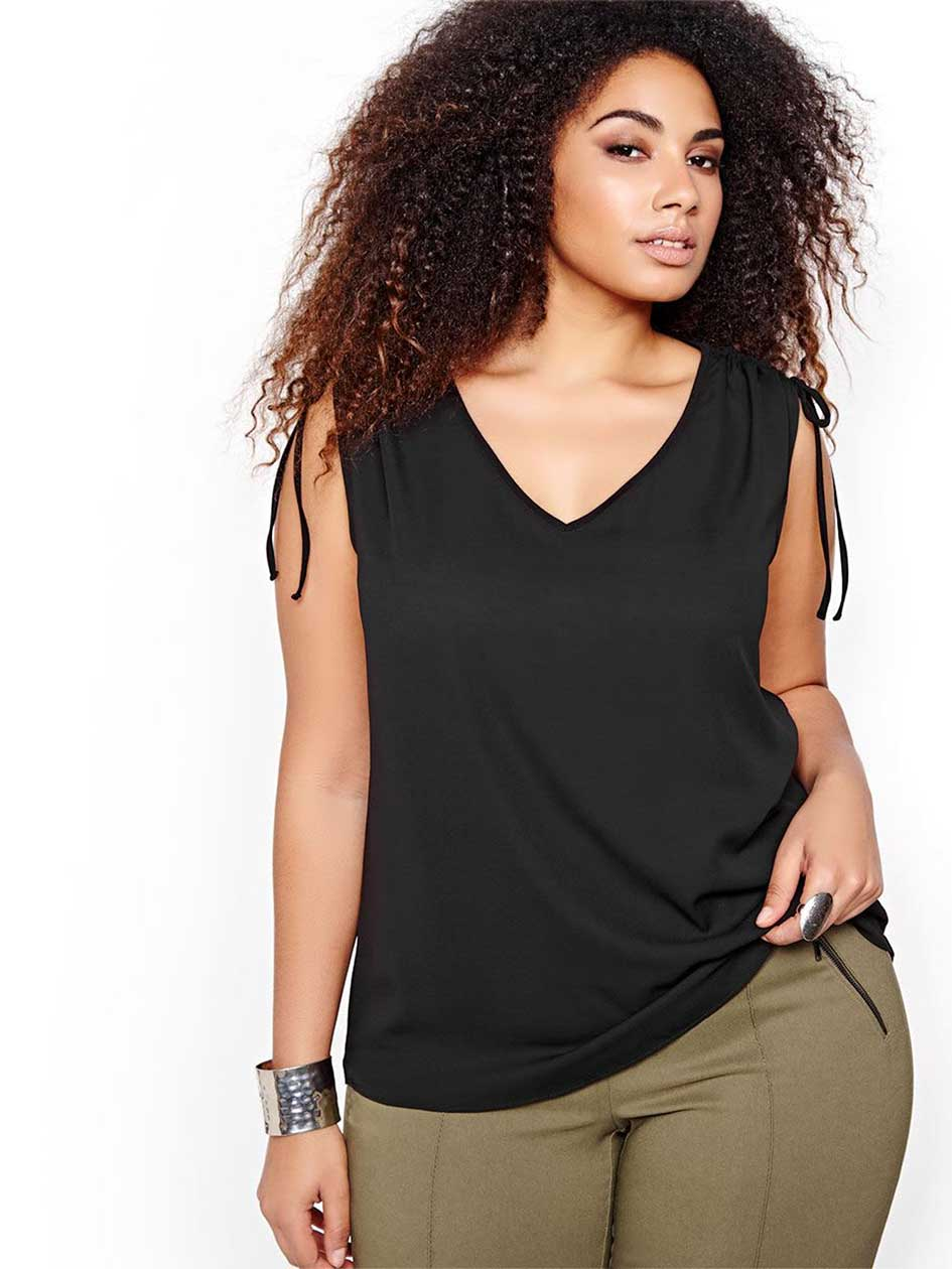Michel Studio Sleeveless V-Neck Top