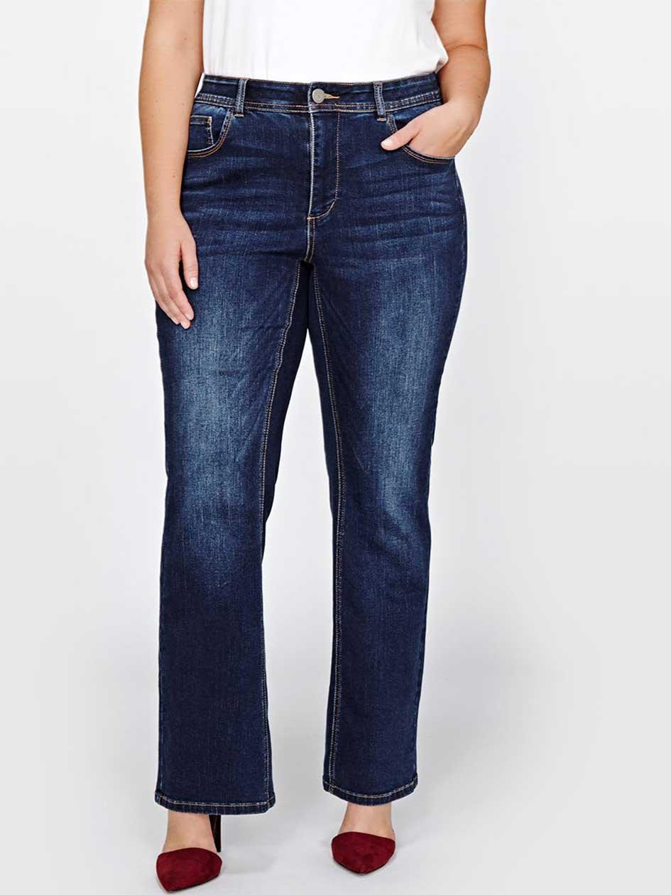 L&L Curvy Barely Boot Leg Jeans