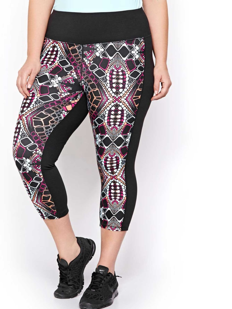 Nola Printed Capri with Solid Color Blocks