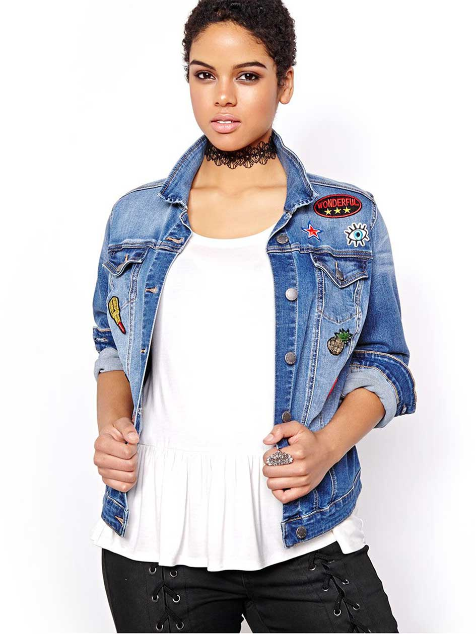 L&L Denim Jacket with Patches
