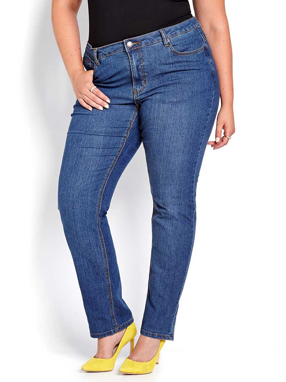 L&L Shaped Straight Cut Petite Jeans
