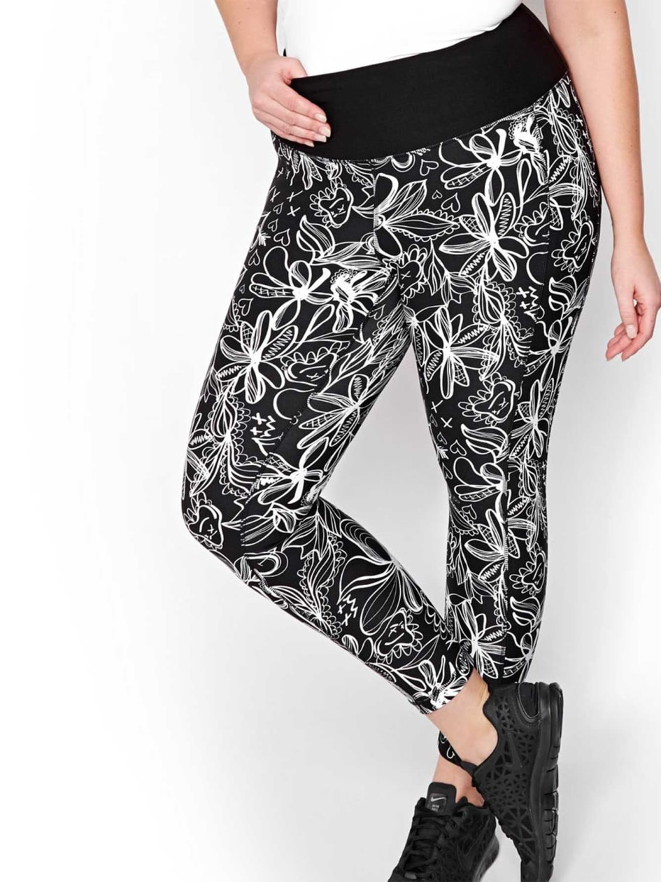 Nola Printed Cropped Legging
