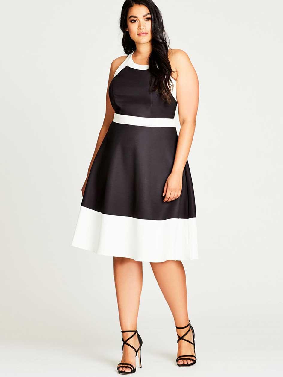 City Chic Pretty Mono Block Dress