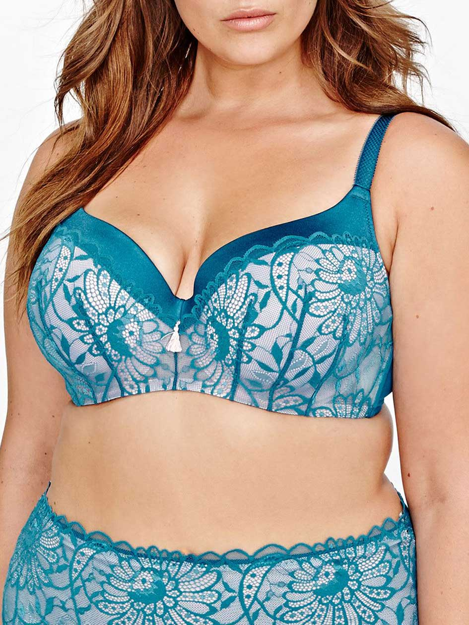 Contour Flirt Bra with Overlay Lace - Déesse Collection