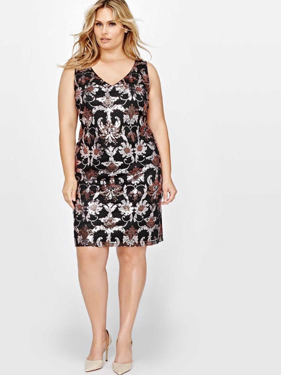 Sleeveless Printed Slip Dress
