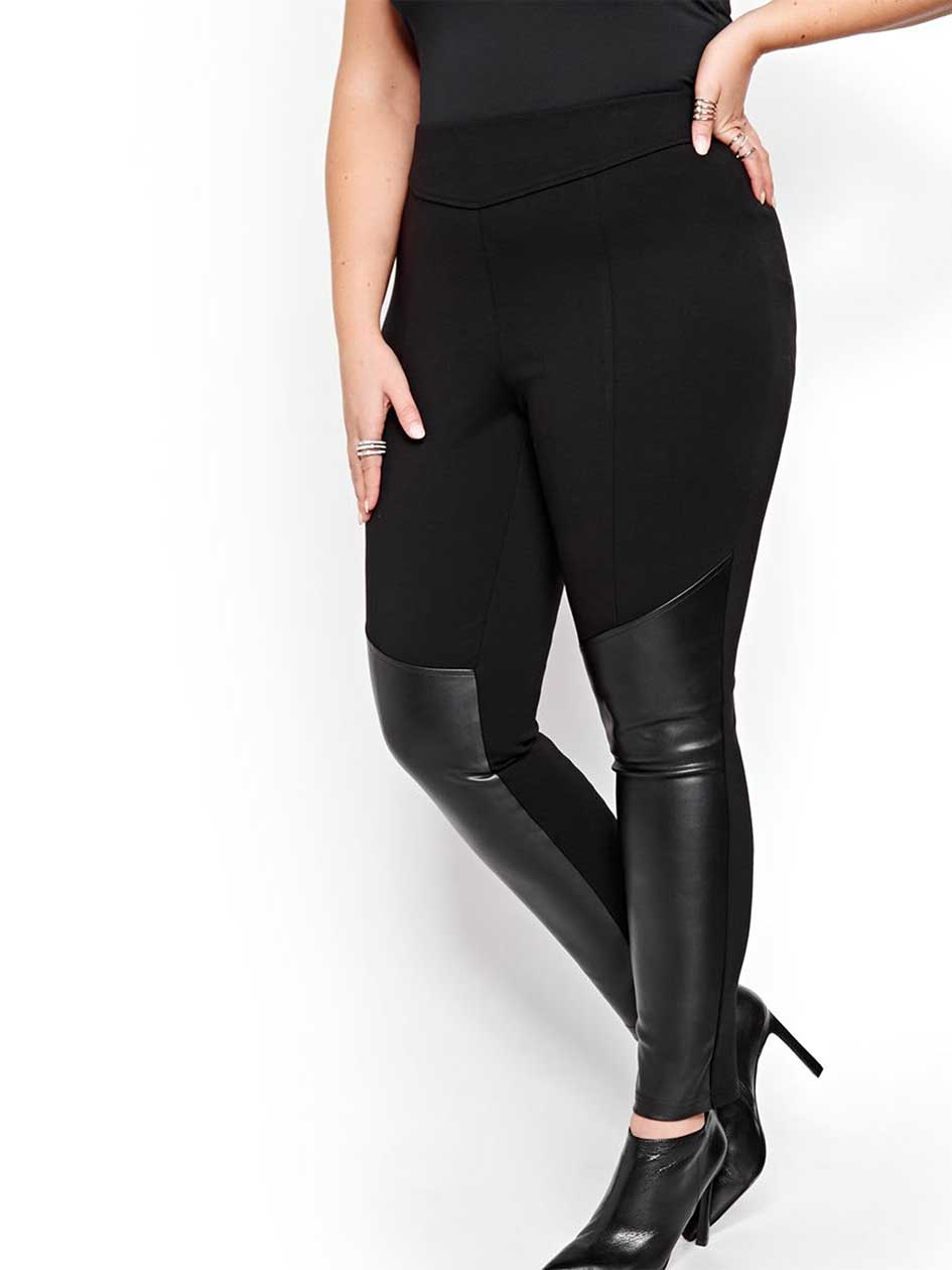Michel Studio Taylor Legging with Faux Leather