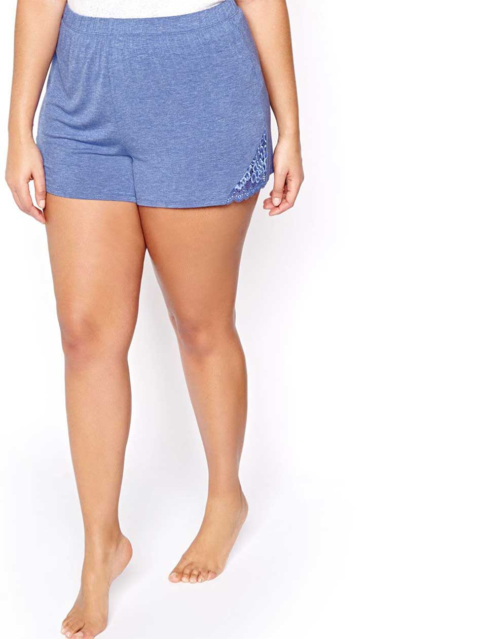 PJ Shorts with Matching Lace Inserts - Déesse Collection