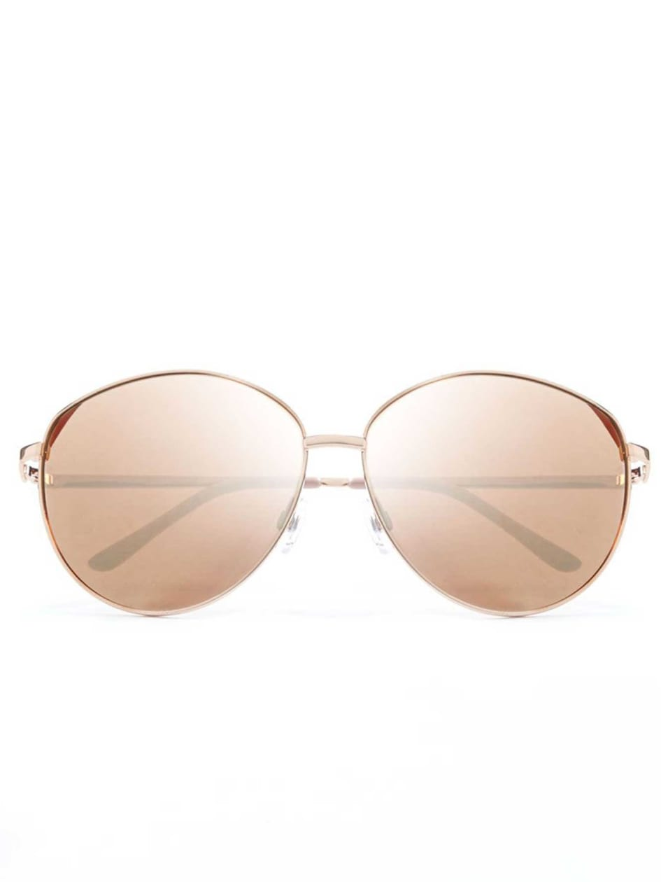 Retro Rose Gold Sun Glasses