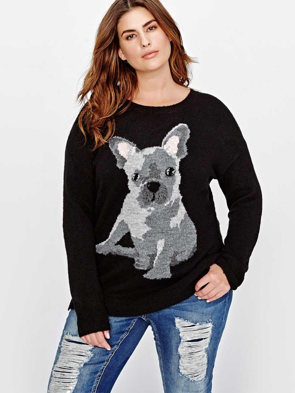 L&L Bulldog Jacquard Sweater
