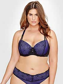 Soutien-gorge corbeille Virtuose avec dentelle et filet Ashley Graham