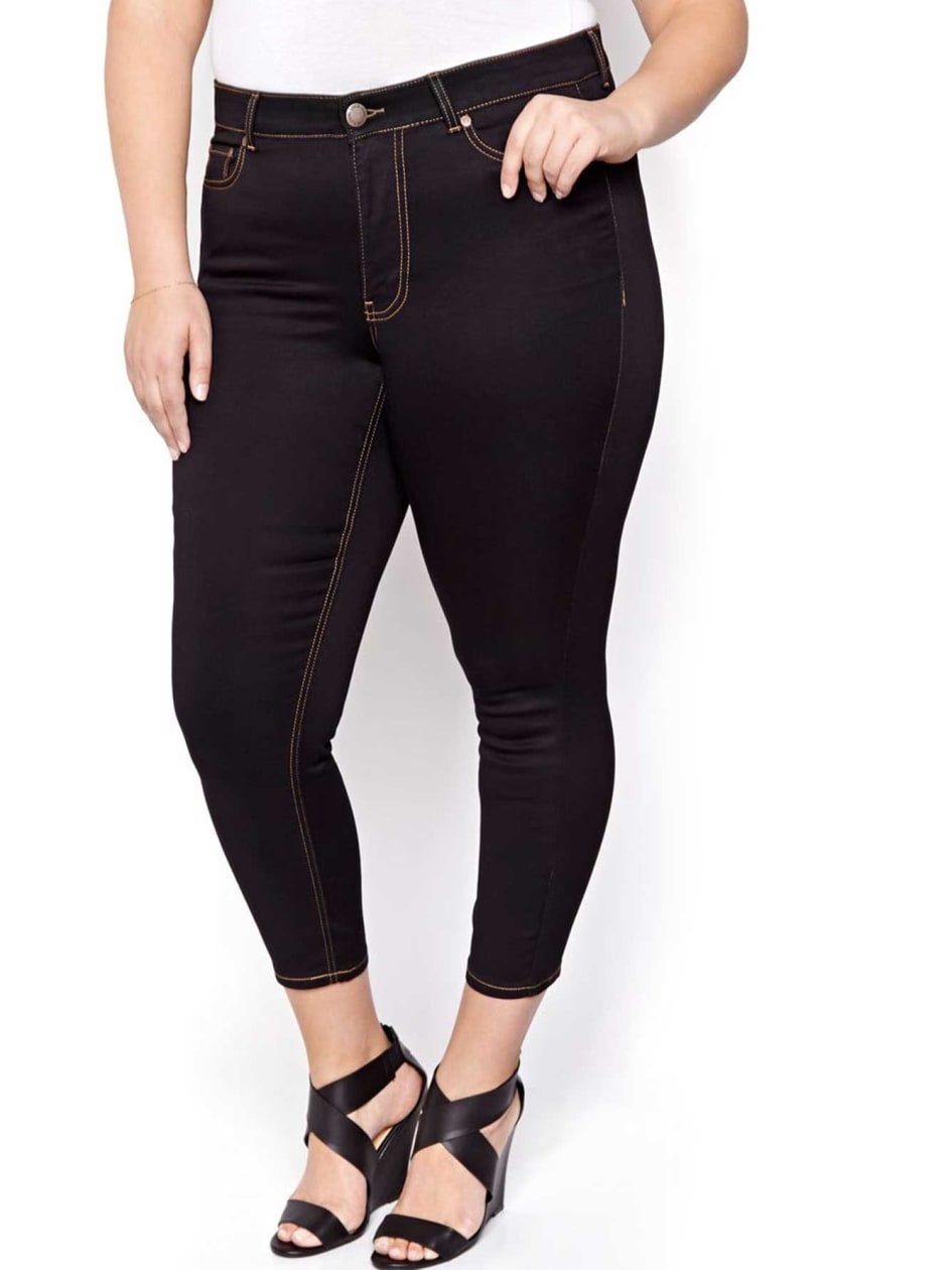 L&L Super Soft Black Ankle Jegging