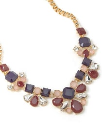 Floral Statement Necklace with Stones