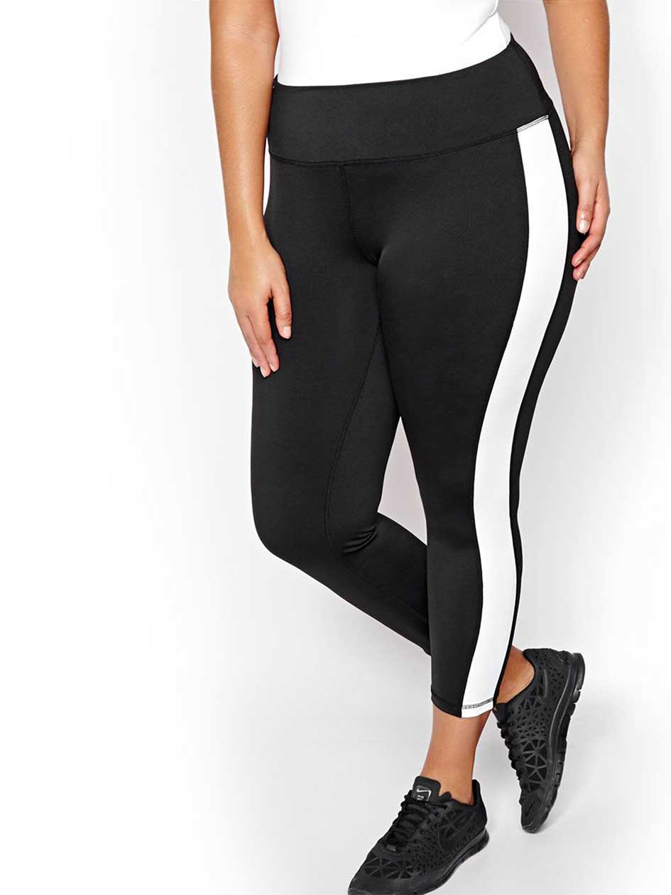 Nola Striped Cropped Legging