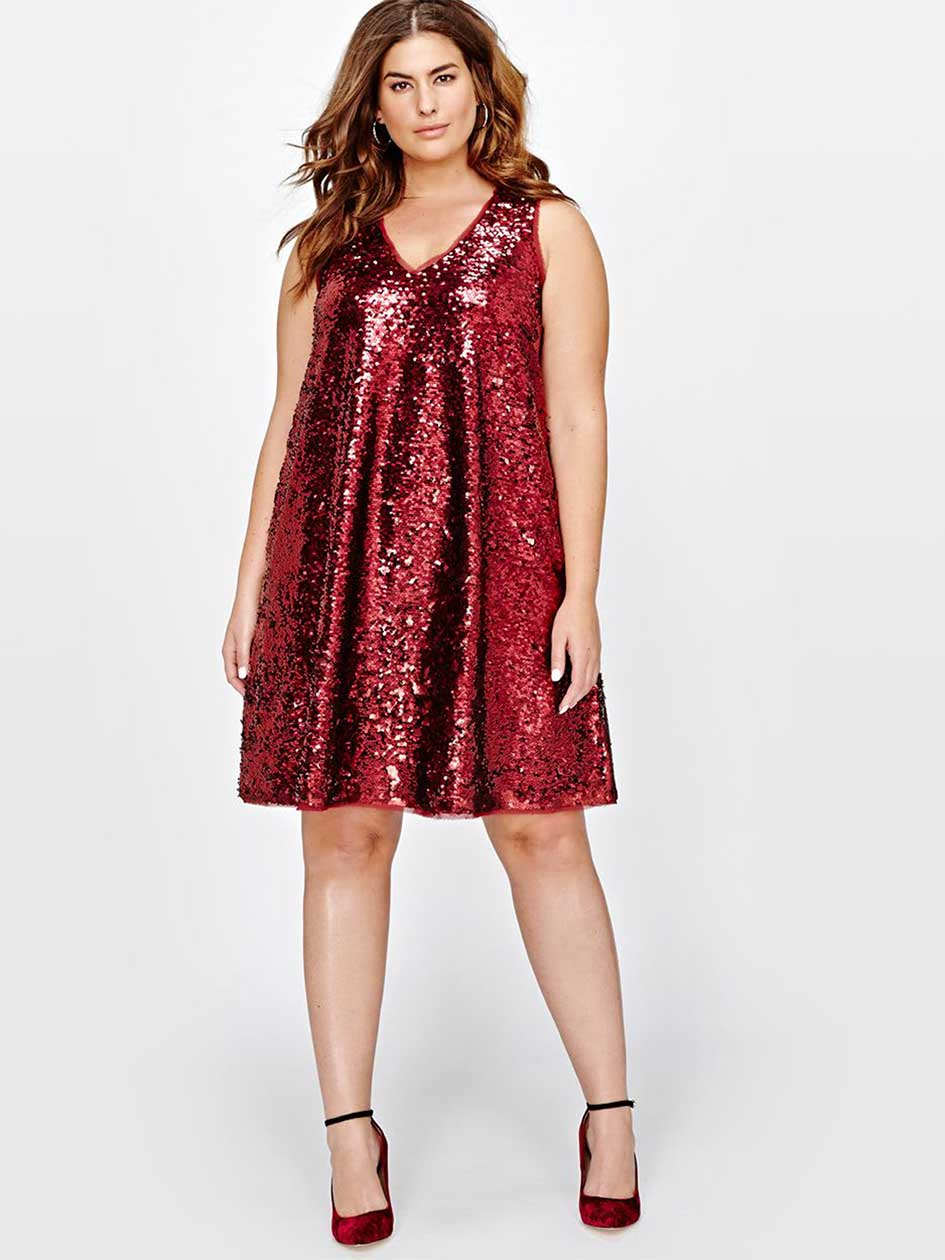 Rachel Roy Sequin Swing Dress