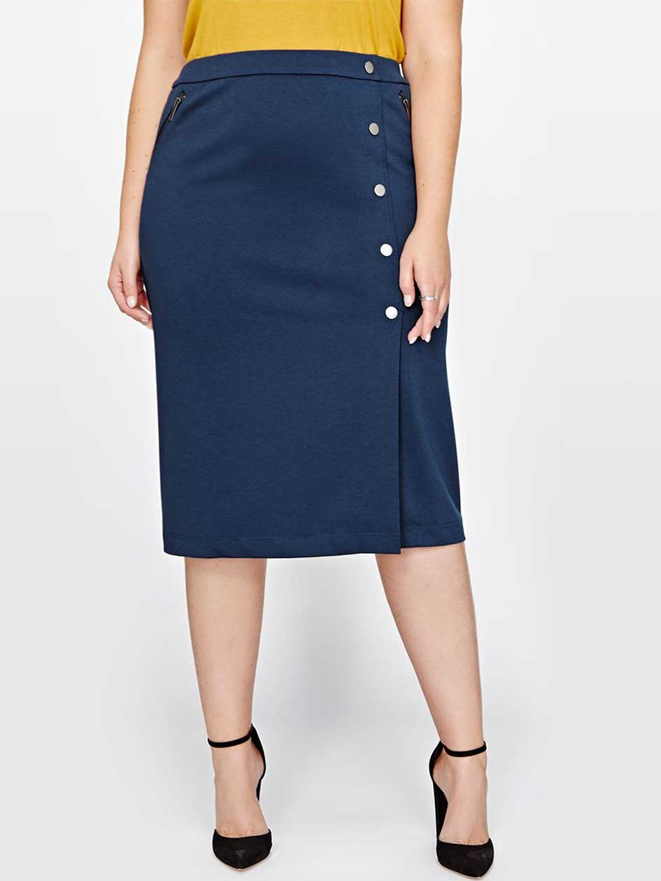 Michel Studio Straight Pull-On Skirt