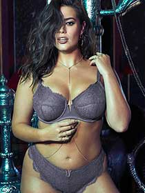 Ashley Graham Fatal Attraction Charcoal Grey Bra, sizes G & H