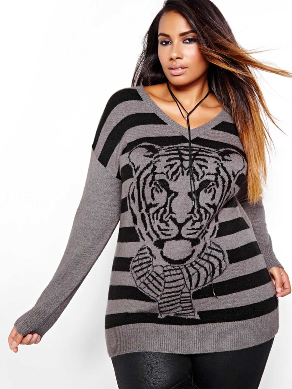 L&L Tiger Print Sweater