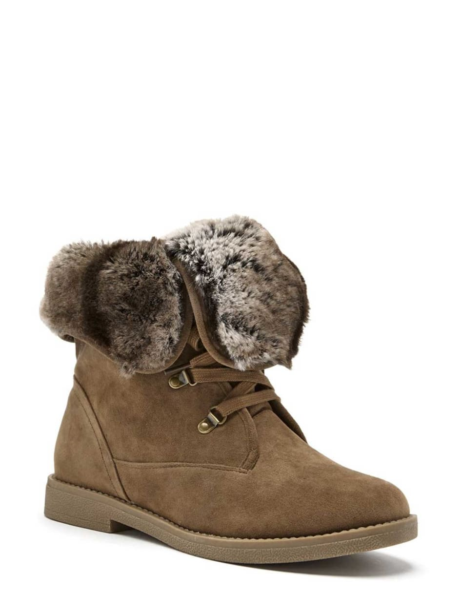 Lily Bootie with Faux Fur