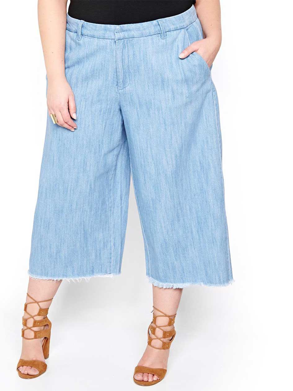 Rachel Roy Wide Leg Crop Jean
