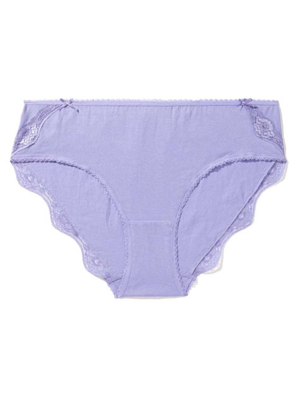 High Cut Panty with Lace Trim - Déesse Collection