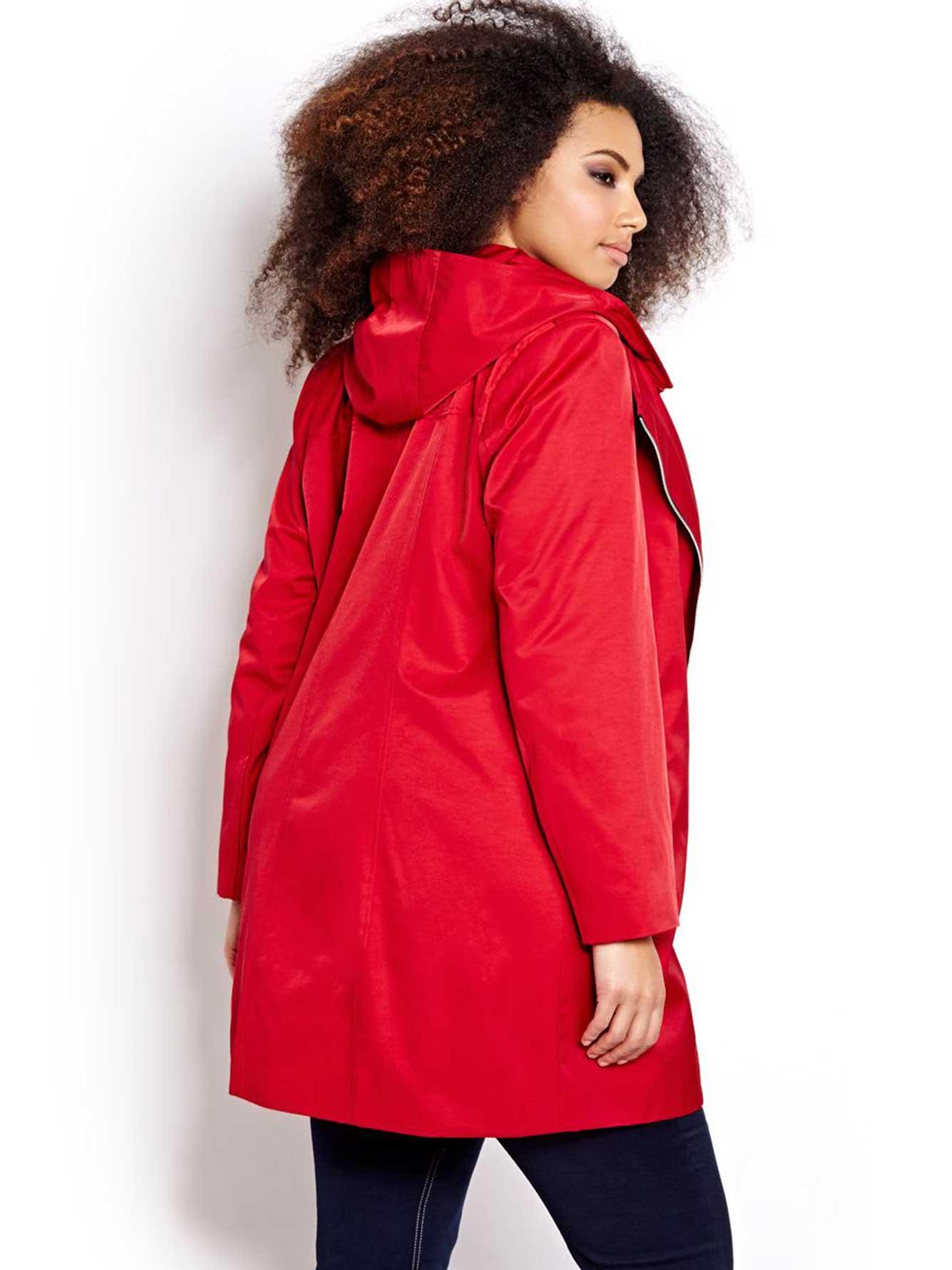 manteau avec fermeture clair asym trique addition elle. Black Bedroom Furniture Sets. Home Design Ideas