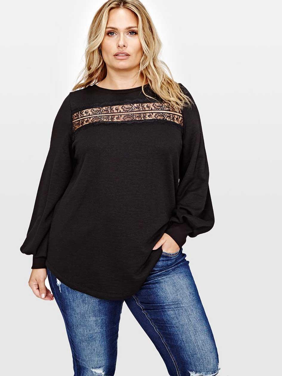 L&L Lace Insert Sweatshirt