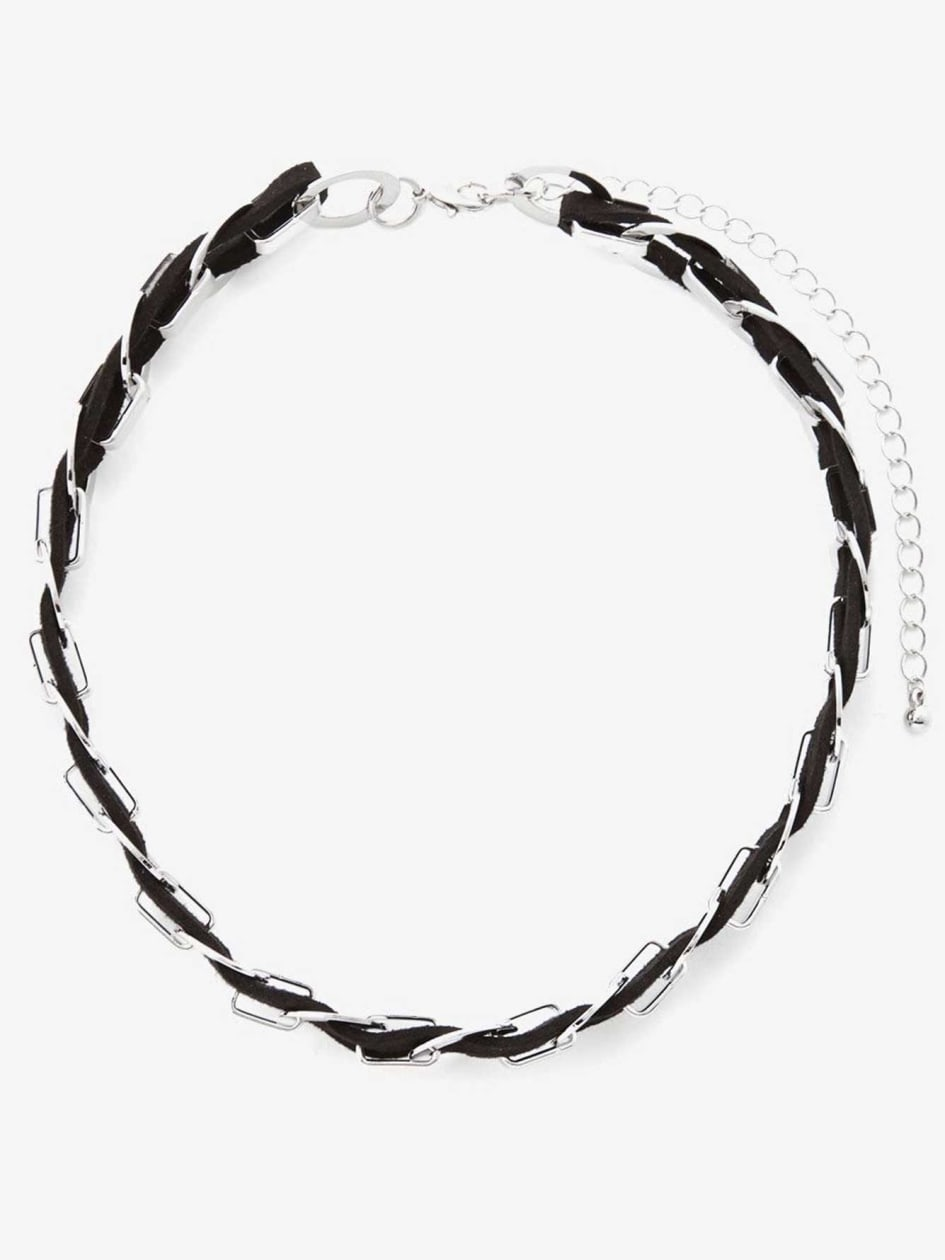 Chain Suede Choker Necklace