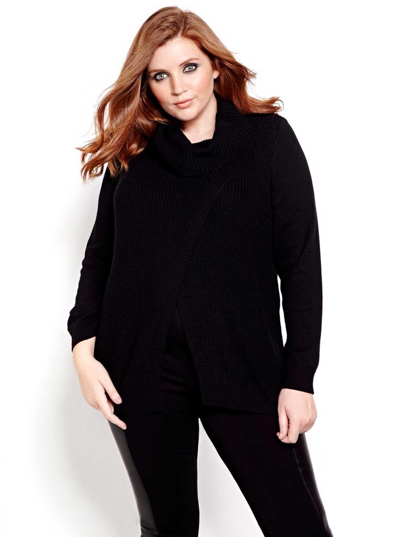 Michel Studio Cross Over Sweater | Addition Elle