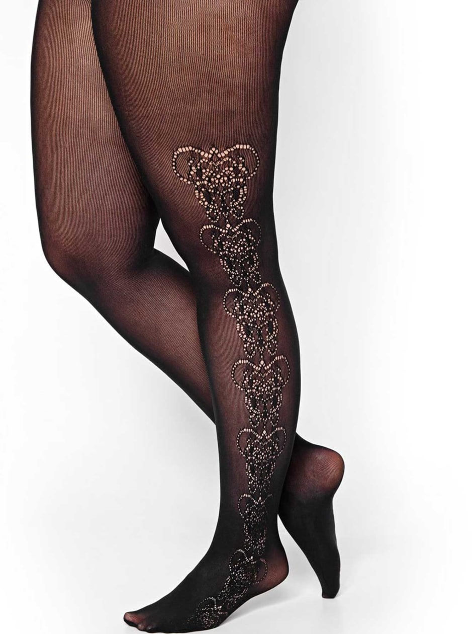 Fishnet Tights with Pattern