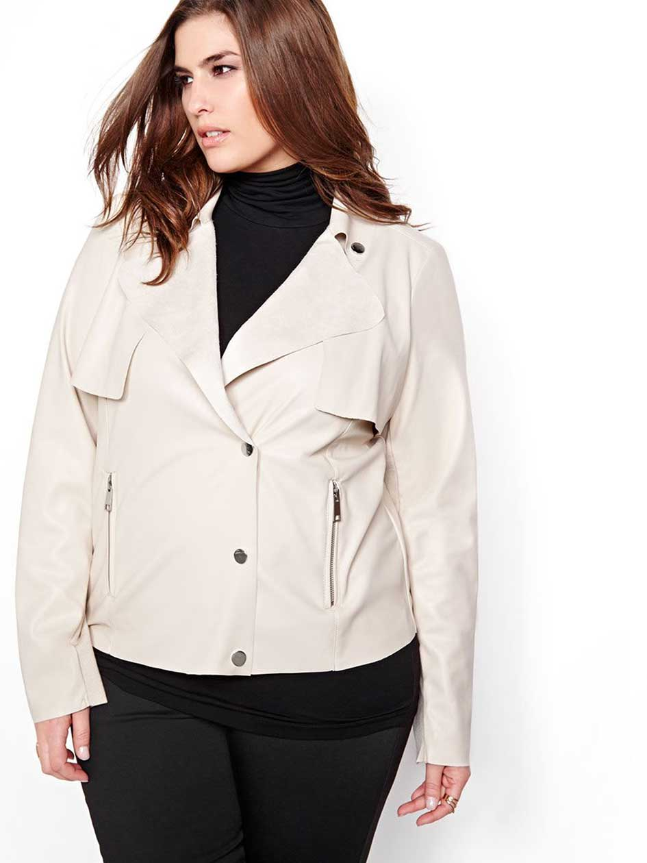 Michel Studio Faux Leather Jacket
