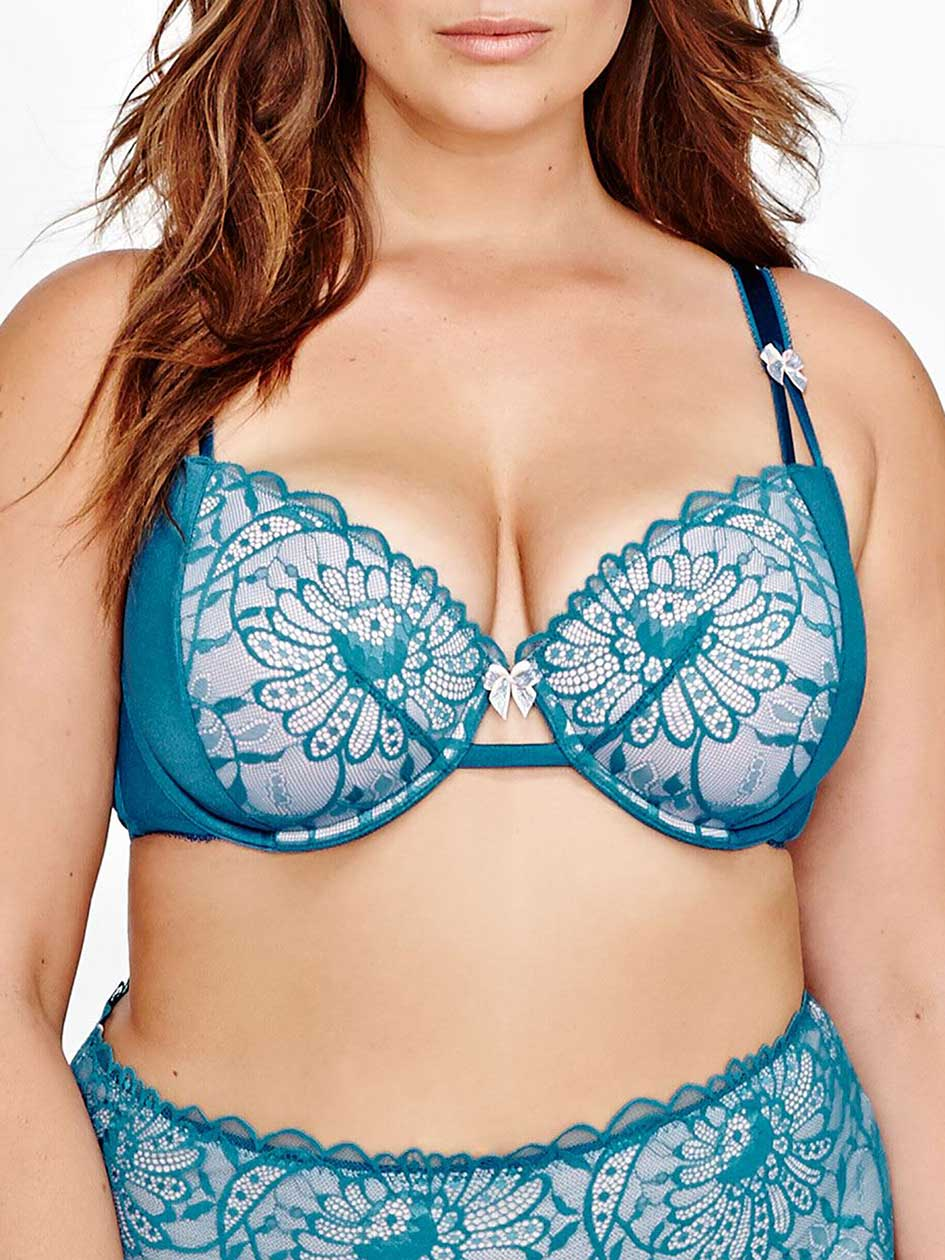 Vixen Balconet Bra with Scalloped Lace - Déesse Collection