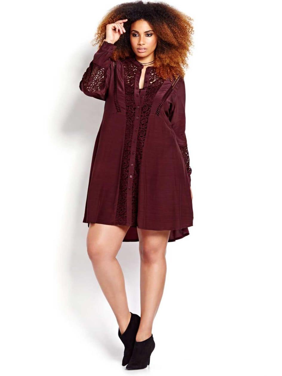 L&L Fit and Flare Shirt Dress