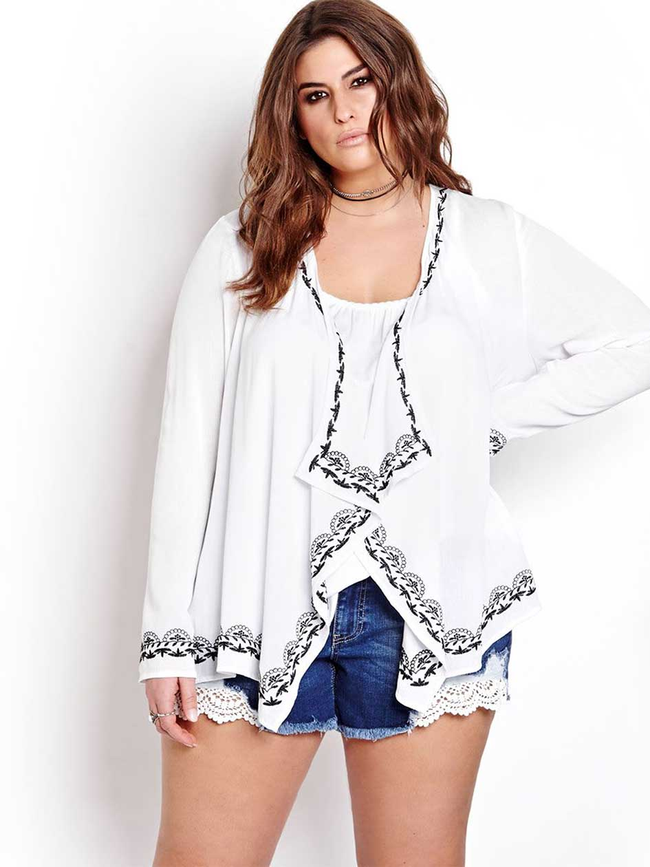 L&L Fly Away Embroidered Cardigan
