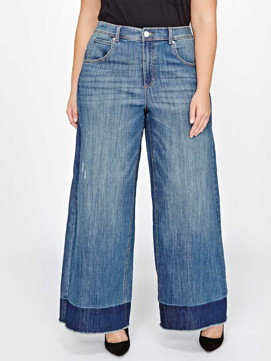 L&L Relased Hem Wide Leg Jeans