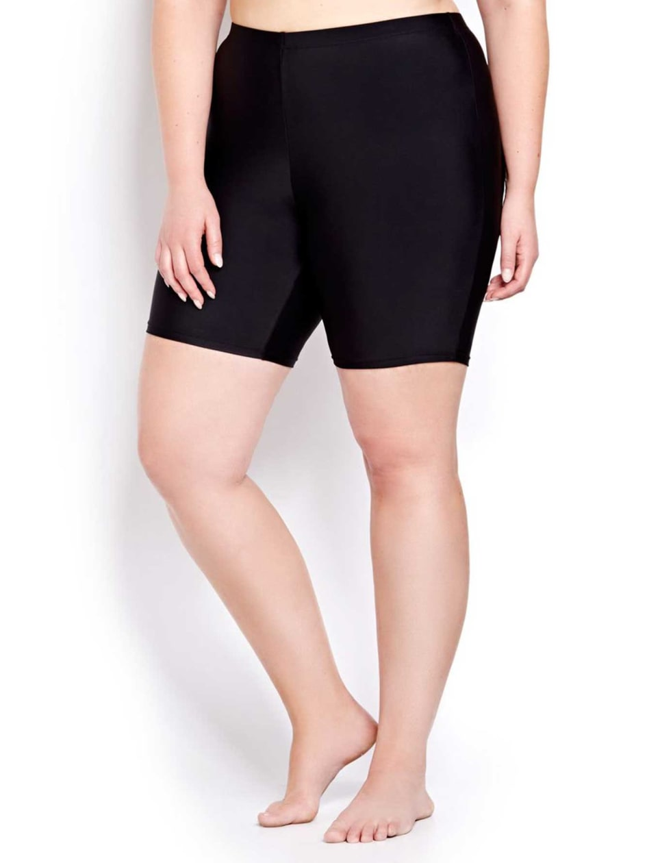 Cactus Long Leg Swim Bottom.Black.4X