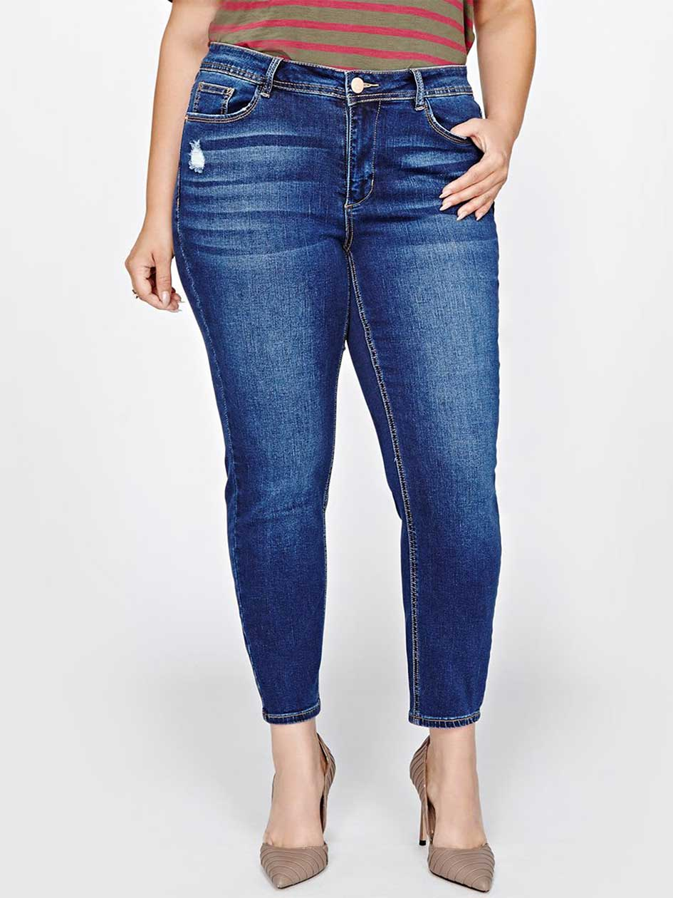 Jeans skinny authentique, taille petite