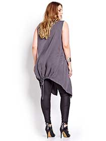 L&L Sleeveless Vest with a Shawl Collar