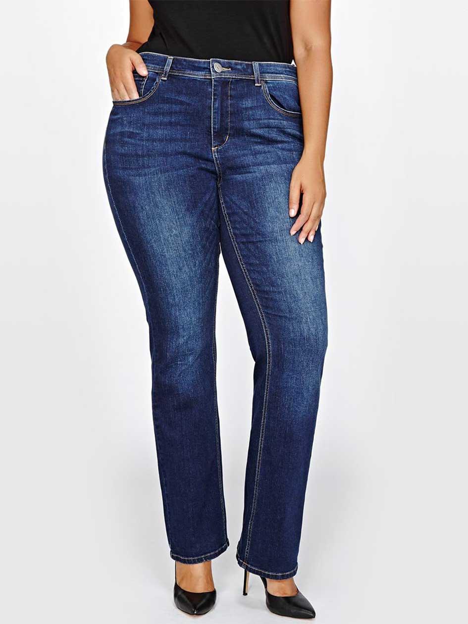 L&L Tall Barely Boot Leg Jeans