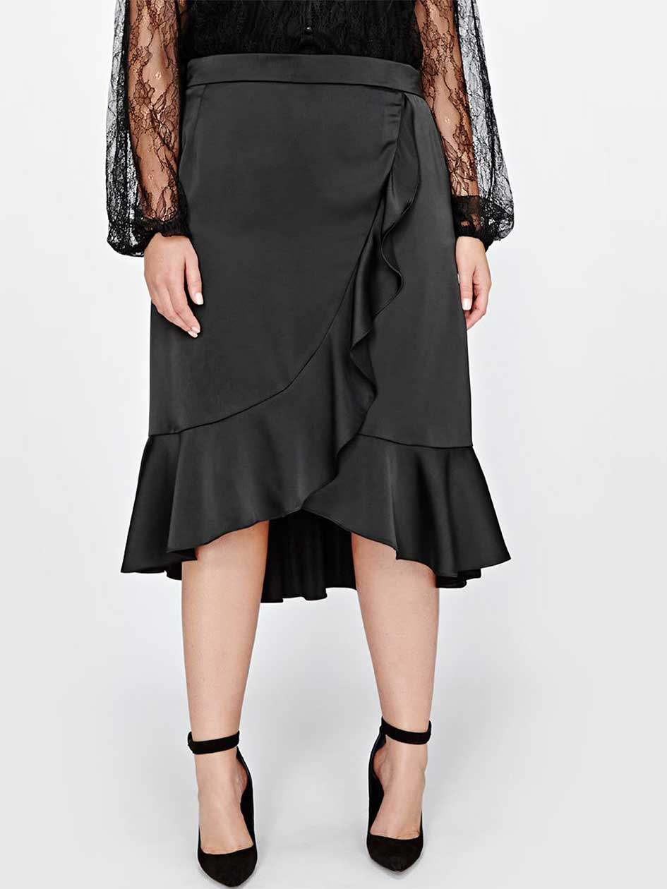 Michel Studio Asymmetrical Flounce Skirt